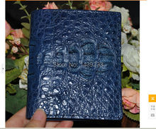 100 genuine crocodile skin leather bi fold font b wallet b font alligator skin font b