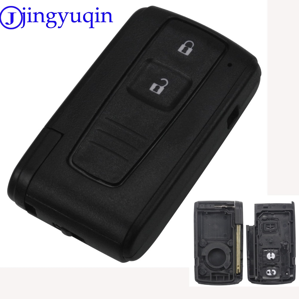 jingyuqin 10ps 2 Buttons Remote Smart Car Key Case Cover For Toyota Prius Corolla Verso Toy43