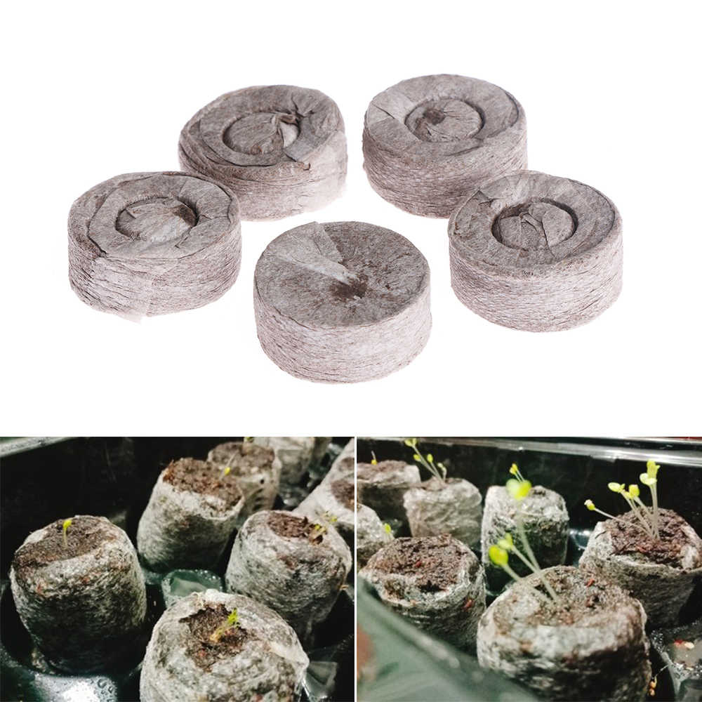 1PC Garden Supplie Compressed Nutritional Soil Block Potted Plant Seed Nursery Pot Peat Pellets Gardening Accessories for Park