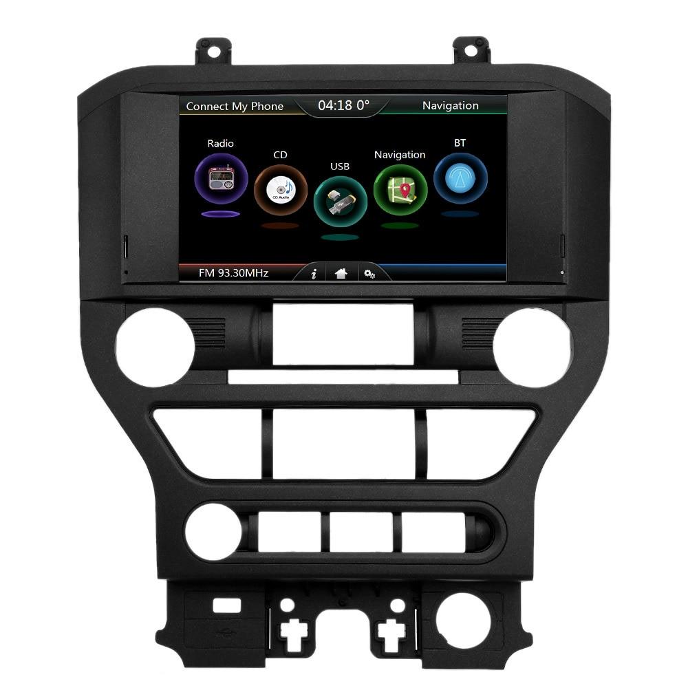 Di Navigazione Per auto Lettore DVD 8 pollici Dello Schermo con Europeo Mappa di Navigazione GPS Per Ford Mustang 2015 2016 2017