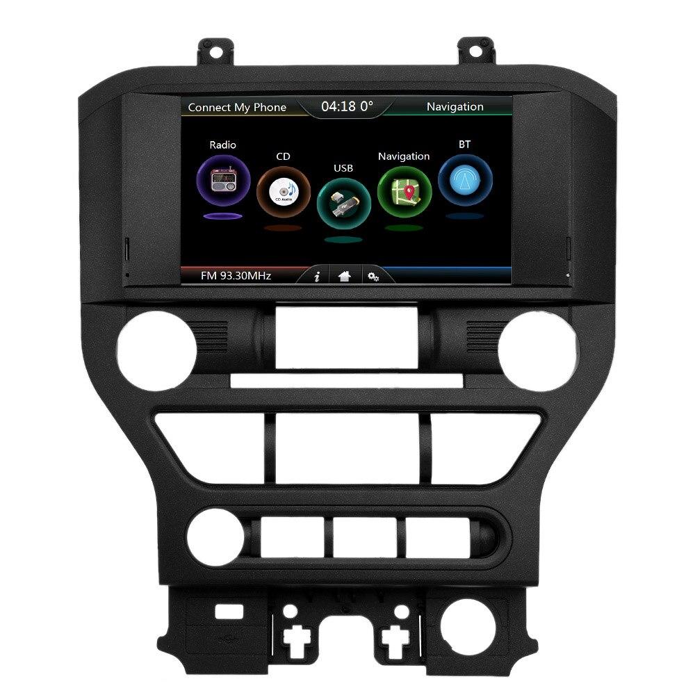 Voiture Navigation DVD Lecteur 8 pouces Écran avec Européenne Carte GPS de Navigation Pour Ford Pour Mustang 2015 2016 2017