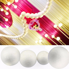 2PCS/Lot 3/5/7/10cm Modelling Polystyrene Styrofoam Foam Ball White Craft Balls For DIY Christmas Party Decoration Supplies