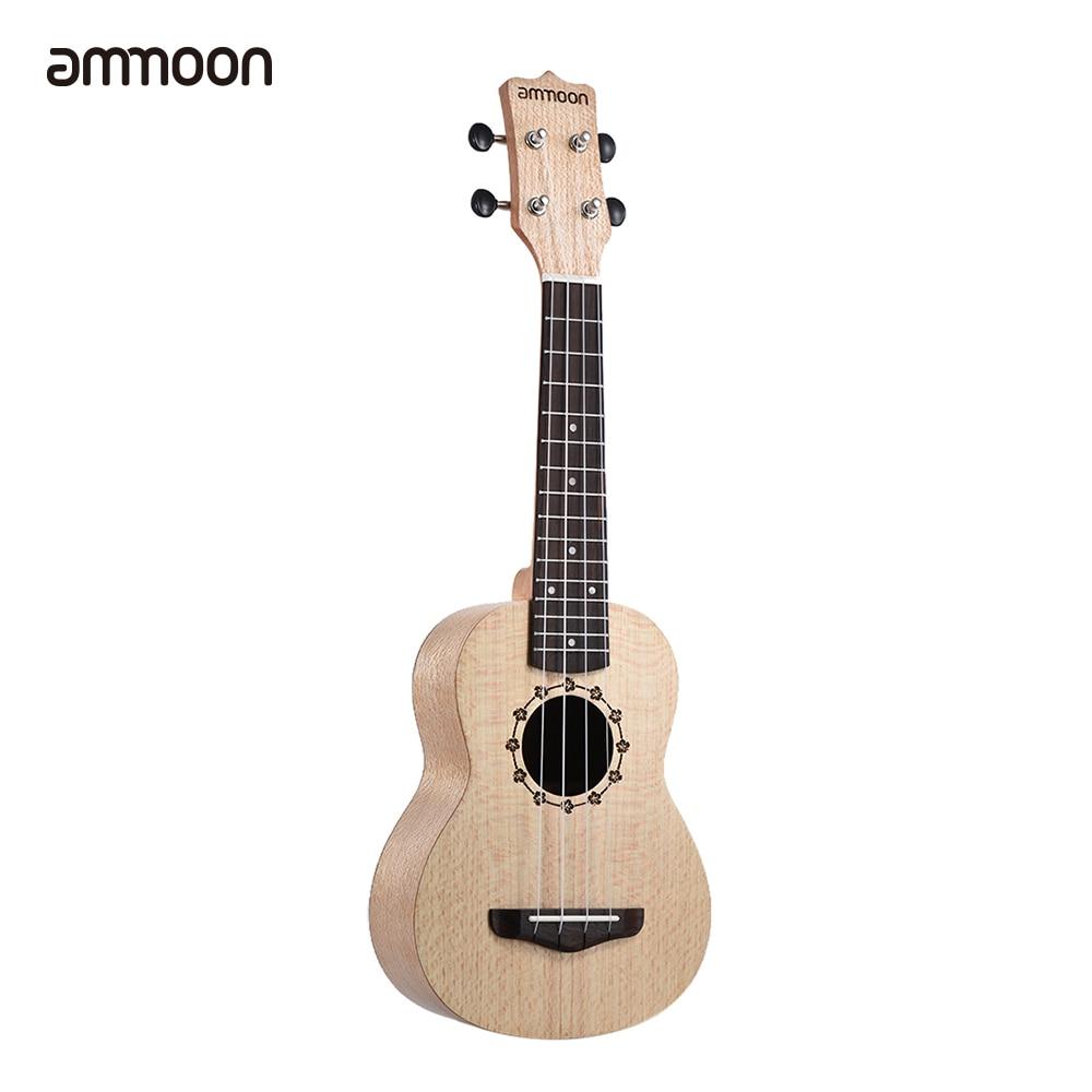Adaptable Ammoon Soprano Ukelele 21 Inch Platanus Body Rosewood Fingerboard Hawaiian Guitar Ukulele Set With Tuner Bag Musical Instruments