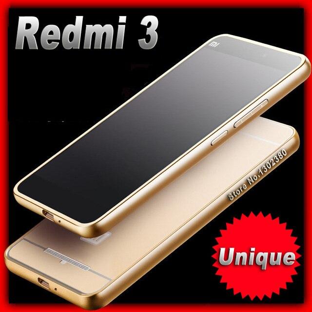official photos 3176d 578da US $3.49 30% OFF|xiaomi Redmi3 case Aluminum Metal Frame xiaomi Redmi 3  prime case xiami xiomi -in Phone Bumper from Cellphones &  Telecommunications ...