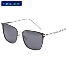 5c02494a71 REEDOON Polarized Men Sunglasses Mirror Oversized Black Square Driver  Fishing Sun Glasses Sports HD Lens Womens