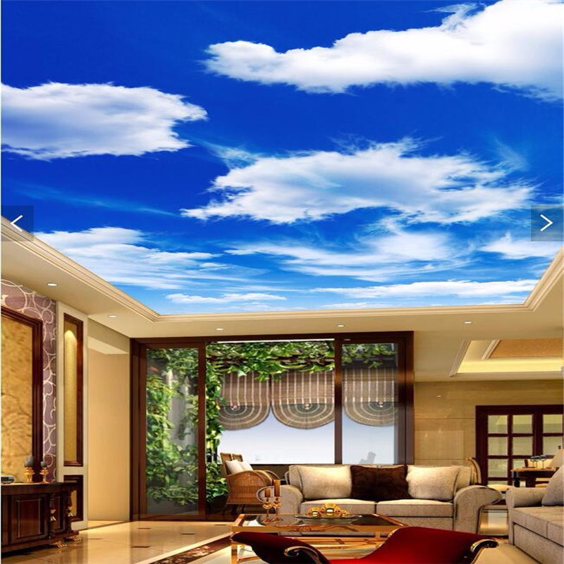 Popular cloud murals buy cheap cloud murals lots from for Ceiling cloud mural