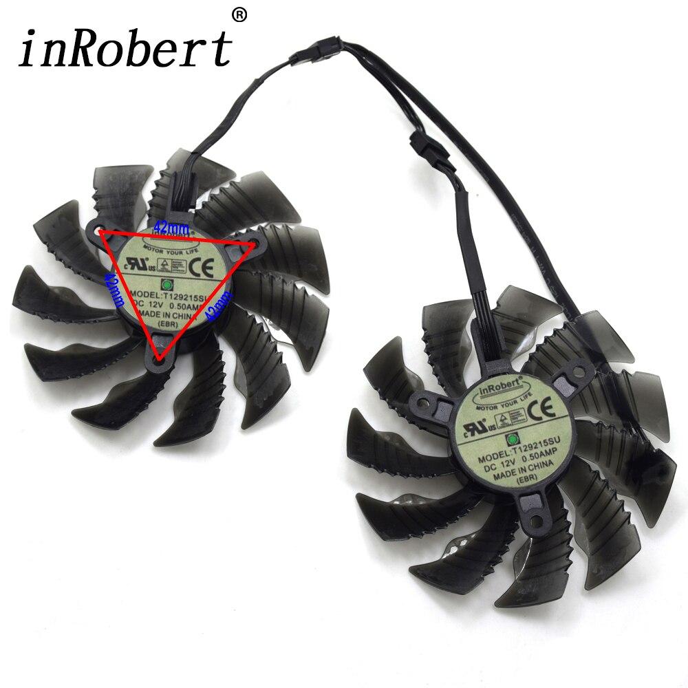 87mm T129215SU PLA09215S12H 4Pin 42mm ventilador para Gigabyte GeForce GTX 960 GTX 950 R9 390 de 380 gráficos tarjeta de Video ventilador de refrigeración