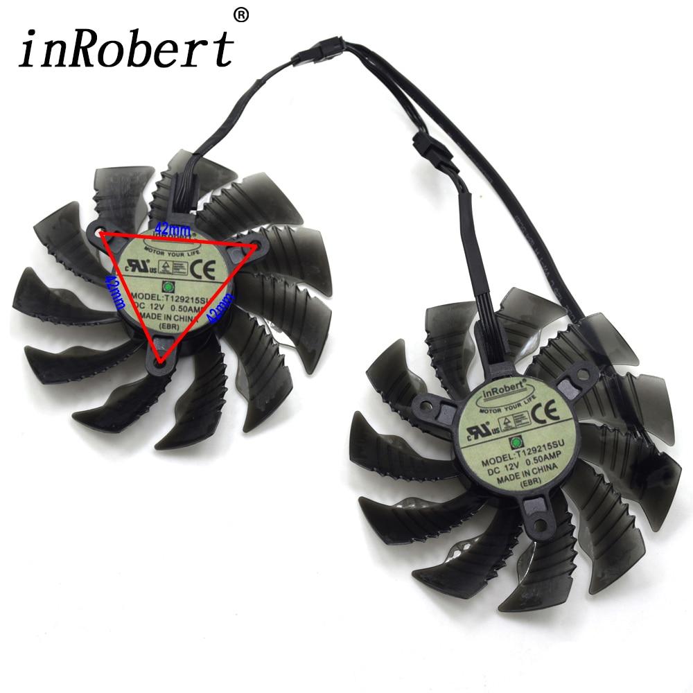 T129215SU 87mm Cooler For Gigabyte GTX 1060 GTX1050TI RX 580 RX480 R9 380X 12V 0.50A 4Pin 42mm Graphics Video Card Cooling Fan рено сценик rx 4 в мурманске