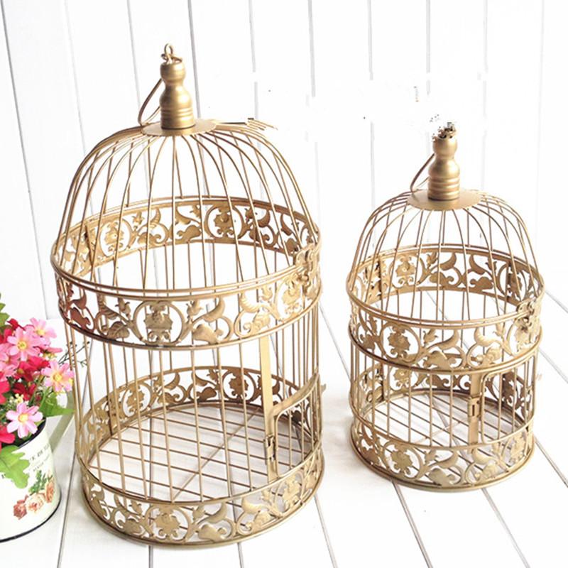 oro europeo moda canela jaula de hierro jaula de pjaros de la vendimia decoracin de la