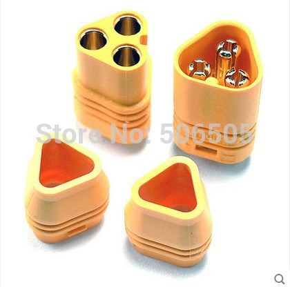Free shipping High quality gold plated MT60 connector plug + socket  for FPV high current 10pcs/lot