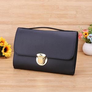 Image 3 - 1 adet PU siyah kozmetik kalemler rulo tutucu Fashional makyaj fırçalar kılıf çanta kılıfı için standart uzunluk fırçalar çanta için makyaj