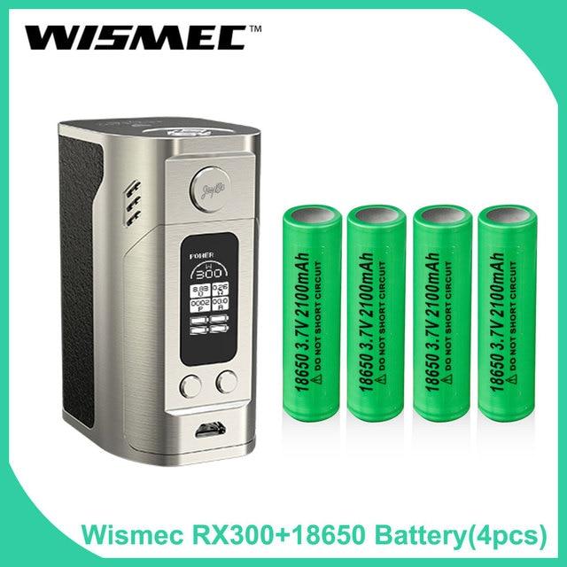 Зазор в исходном wismec reuleaux RX300 TC поле Mod кожа/углеродного волокна Батарея мод с 18650 Батарея электронная сигарета vape Mod