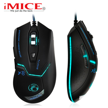 цена на imice USB Wired Gaming Computer Mouse Gamer game 3200 DPI Adjustable Optical Mice Gaming Mouse Ergonomic for Laptop PC Mouse X8