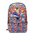 Capitão América Homem de Ferro Superman Mochila de Star Wars PU Sacos de Escola de Couro Mochila Bolsa Mochila Mochila de Viagem Frete Grátis