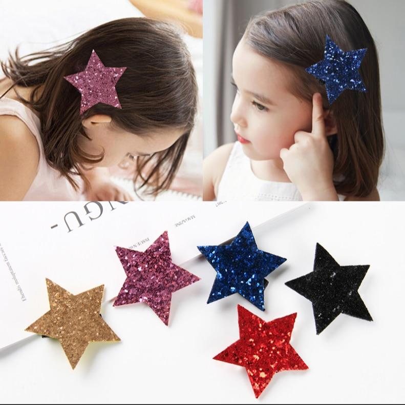 Personality Sparkling Star Girl Kids Hair Clip Hair Accessories Women Hair Claws Hairpins Party Hairgrips   Headwear   Hairband