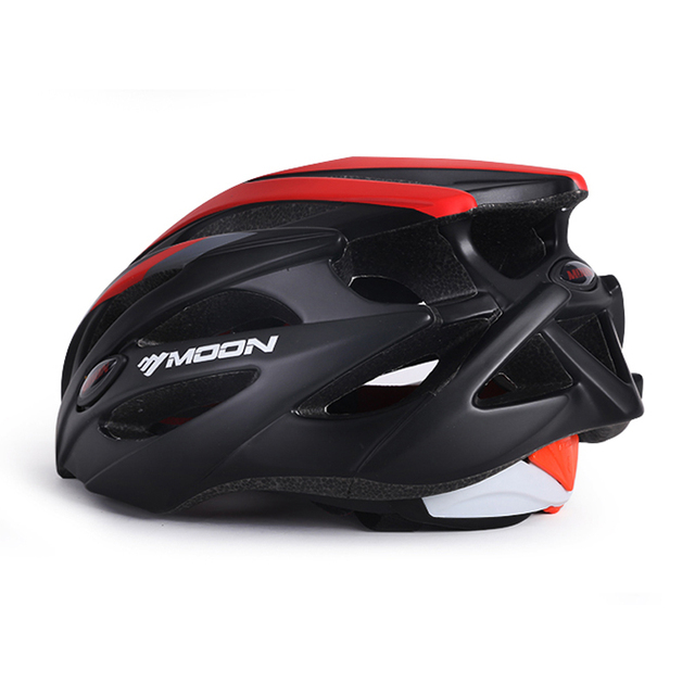 MOON Magnetic Goggles 275g Cycling Helmet 25 Air Vents Bicycle Helmet In-mold Lens Bike Helmet Men Women 55-61 CM Casco Ciclismo