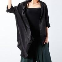 CELMIA 2018 Autumn Fashion Women Solid Long Sleeve Lapel Button Down Irregular Tops Retro Baggy Open