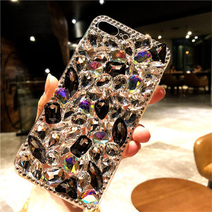 Image 2 - Voor Xiaomi 8 9 Lite Se Max 2 Redmi4A 6A 8A Note5 5A 7 6 8 Pro Luxe Glitter Back cover Crystal Bling Strass Zachte Telefoon Case