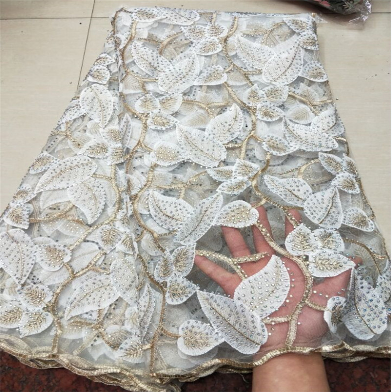 2018 New Design Swiss Voile Lace African Guipure French Lace Fabric With Stones African Lace Fabric