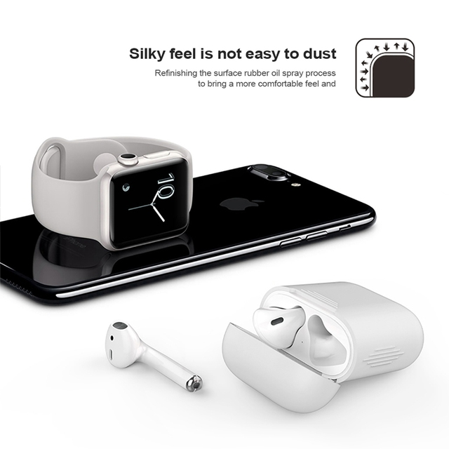 TPU Silicone Apple AirPods Case Cover 3