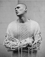 Draw Cord Design Drop Shoulder Hip Hop Pullovers Autumn 2017 Mens Vintage Style Argyle Pattern Knitted