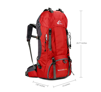 Waterproof Climbing Hiking Backpack Bag with Rain Cover 1