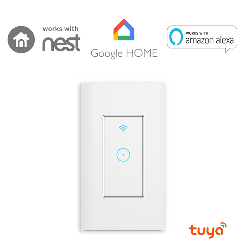 Tuya APP US Smart Light Switch,Wi-Fi Switch In-wall Wireless Switch Compatible With Amazon Alexa,Remote Control From Anywhere 3 gang smart switch