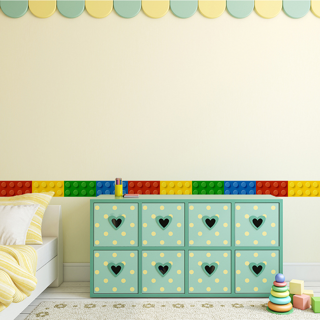 mushroom lego melted chocolate adhensive wall border sticker for