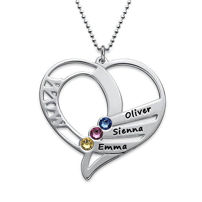 Elequisite Coeur Collier Nouvelle Naissance Colliers Bijoux Meilleur Cadeau D'anniversaire Peut Faite sur N'importe Quel Nom YP2997 (DropShipping)