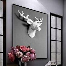50x49x20 см 3D скульптура фрески домашние настенные животные лося статуя ручной работы орнамент Художественная Скульптура ремесло