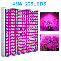 45W LED Grow Light Bulbs Panel Full Spectrum Plant Growing Lamps for Indoor Plants Greenhouse Seedlings Growing and Flowering