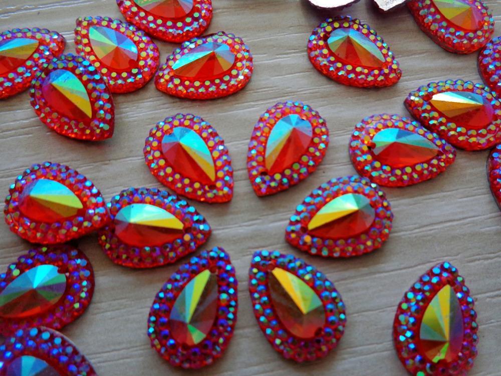 Dazzling Red sew on rhinestones water drop shape 10 14mm rhinestones crystal  resin stones flatback strass 120pcs-in Rhinestones from Home   Garden on ... 05852c191781
