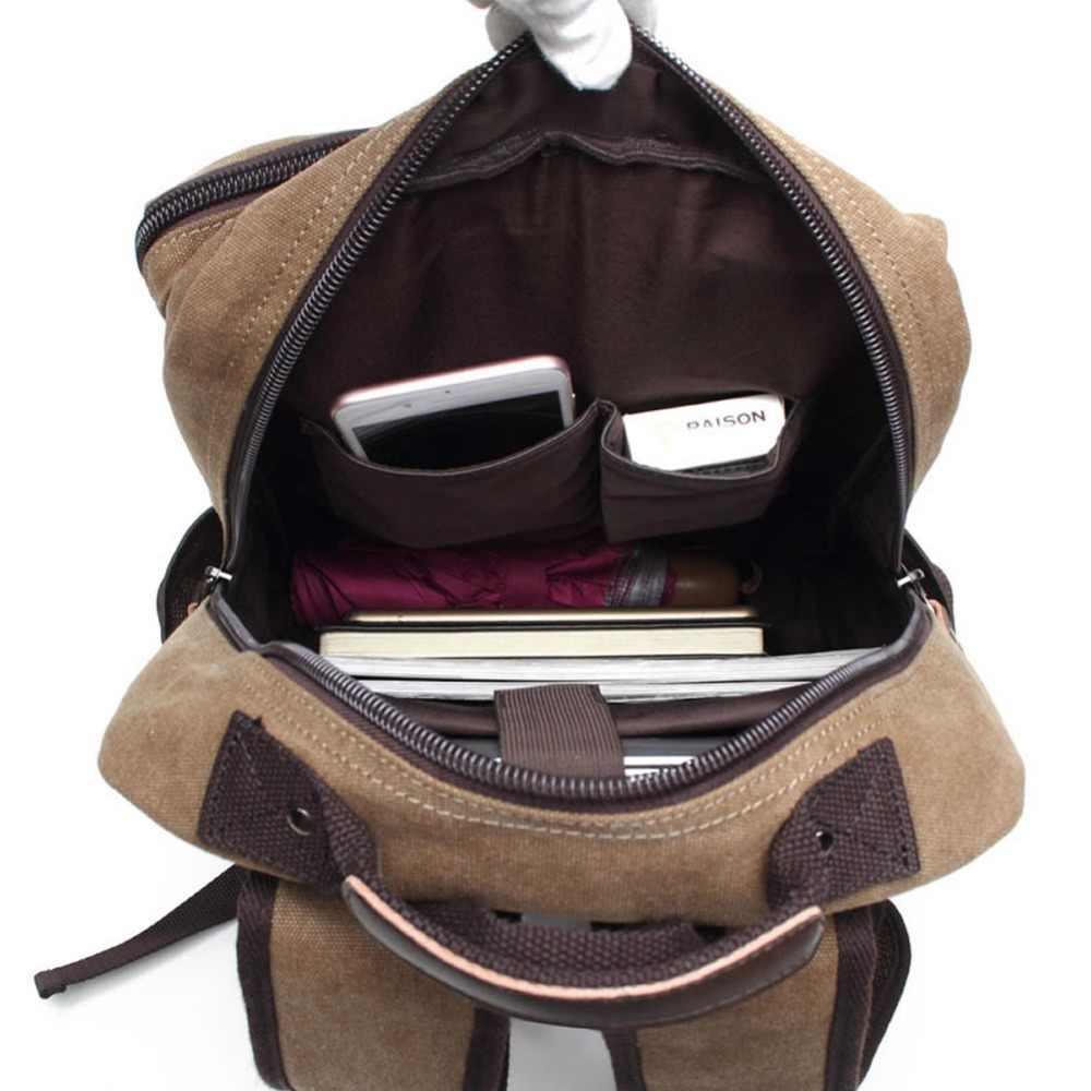 Мужской холщовый рюкзак мешок GNWXY больших студенты школьные сумки ноутбук рюкзаки для 14,1 дюйма туристические рюкзаки Тетрадь сумка стопки книг