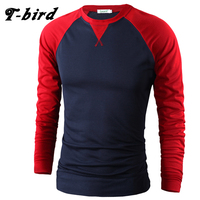 T Bird Brand Men T Shirt Cotton 2017 High Quality New Casual Tshirt Compression Mens Long
