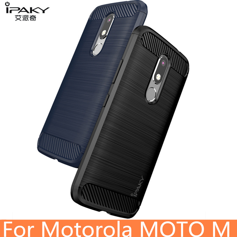 huge discount 0b8e9 ea8e1 US $4.99 |for MOTO M Case Original IPAKY Brand Silicone Carbon Fiber Hybrid  Protective Cover for Motorola M case-in Fitted Cases from Cellphones & ...