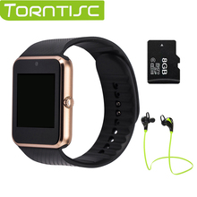 Torntisc Smart Watch GT08 Clock for android Sync Notifier TF Sim Card Bluetooth Connectivity 0.3MP camera PK dz09 gv18 u8