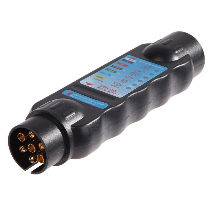 7pin Véhicule Voiture Remorque de Remorquage Lumière Câble Circuit Plug Prise 12 V Connecteur (N type) Testeur de Test de Signal de diagnostic-outil