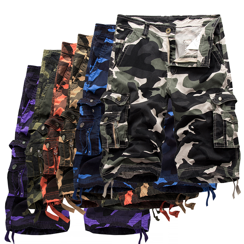 Image 2 - 2019 Military Camo Cargo Shorts Summer Fashion Camouflage Multi Pocket Homme Army Casual Shorts Bermudas Masculina Plus size 40-in Casual Shorts from Men's Clothing