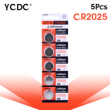 YCDC 5 Pcs pilha 3V Lithium Coin Cells Button Battery CR2025 BR2025 DL2025 KCR2025 bateria 2025 L12 pile watch batteries стоимость