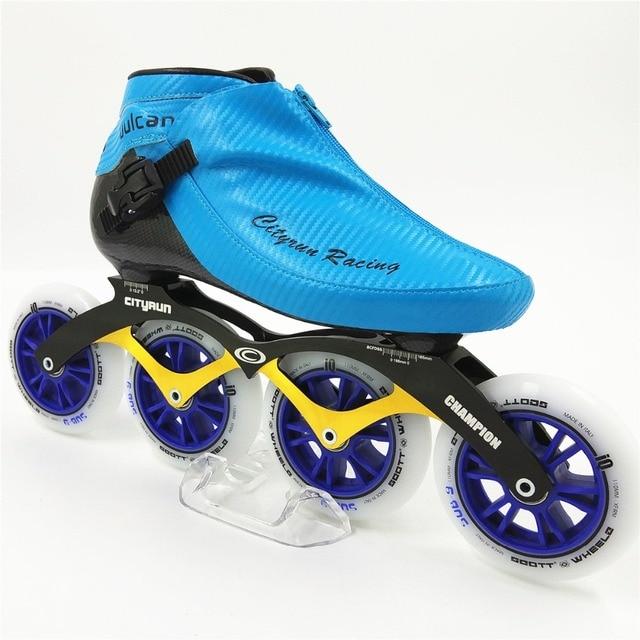 8f0861af0f4 Professionele Inline Racing Schaatsen schoenen NIEUWE Aankomst Mannen/Vrouwen  Inline Skates 4 Wielen 100mm 110mm