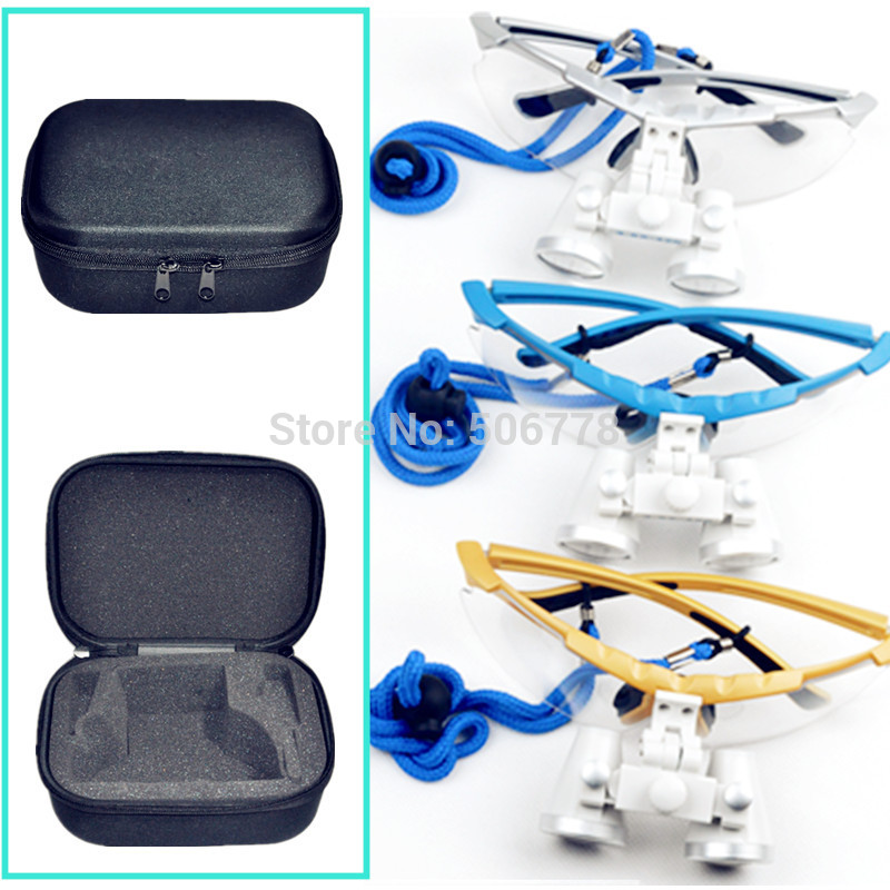 Dentist Dental Surgical Medical Binocular Loupes  Optical Glass Loupe with case bag cover freeshipping five color of the loupes