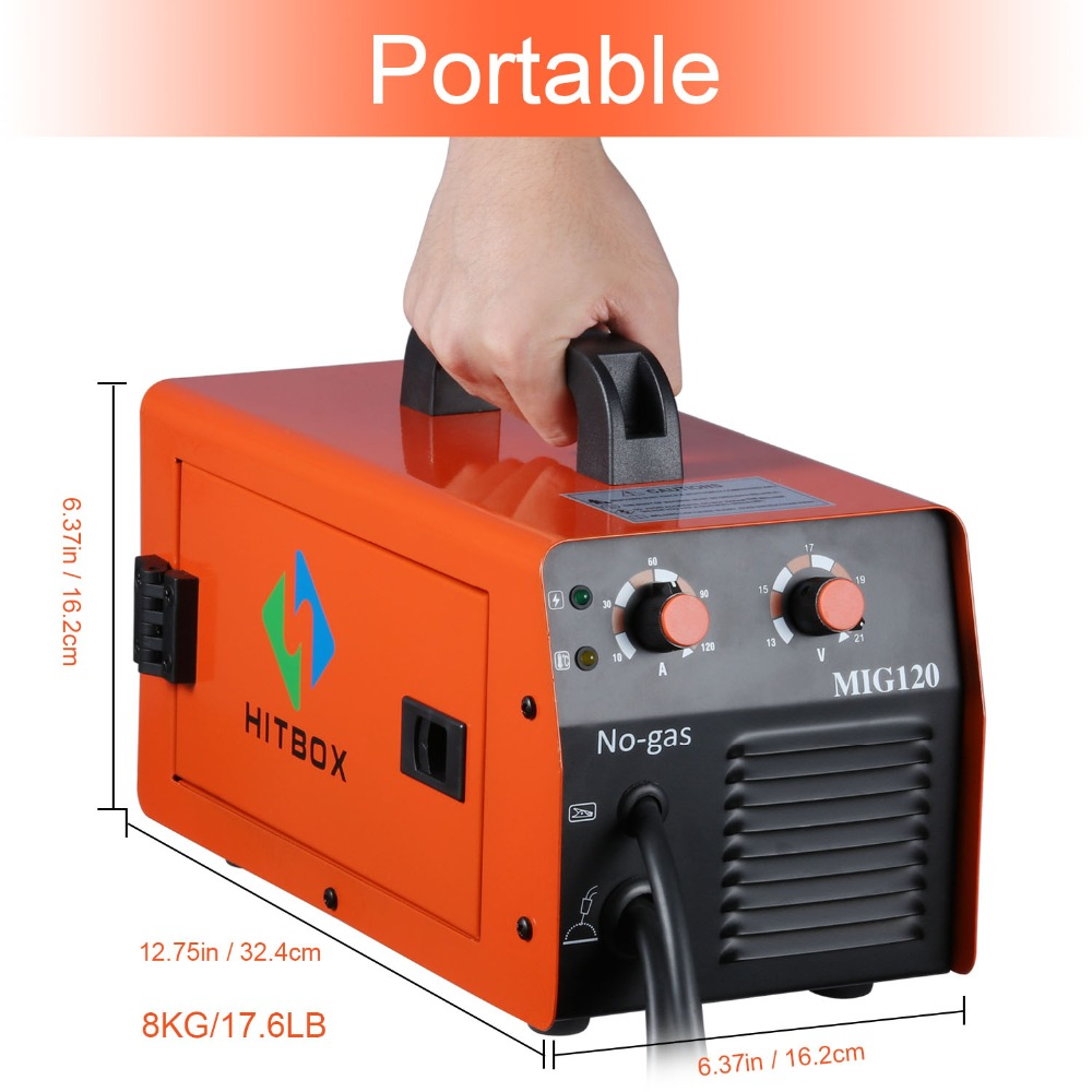 HITBOX Mig soudeur sans gaz 220V MIG1200 Mag soudeurs fer acier soudage équipement MIG MAG soudeuse Portable - 4