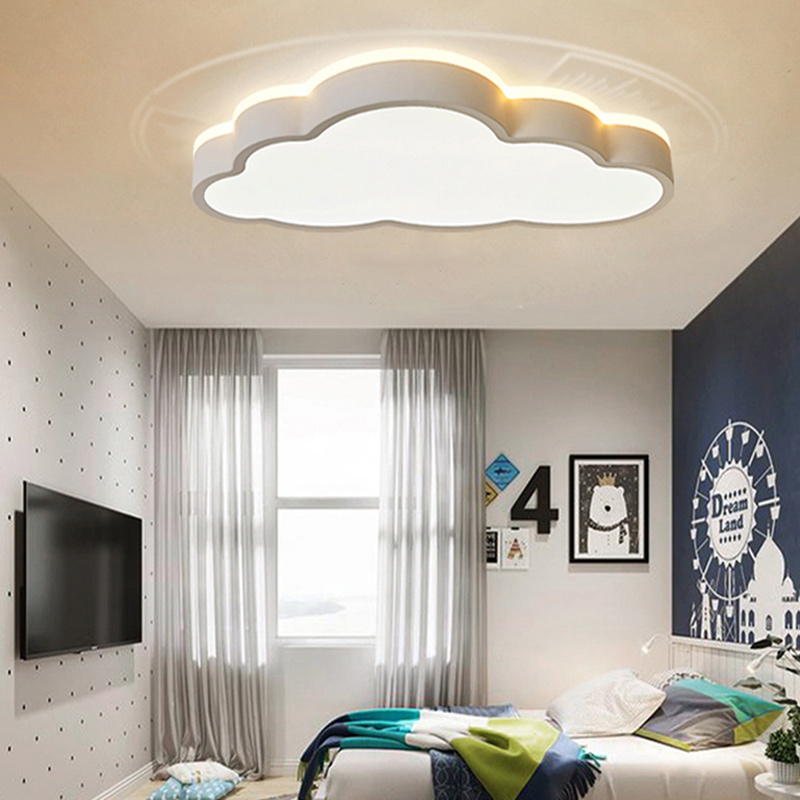 LED Modern Cloud Shape Ceiling Light 48W 64W Remote Control Dimmable Ceiling Lamp Indoor Bedroom Living