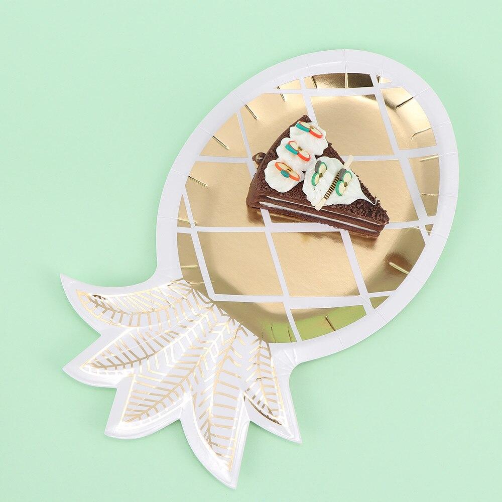8 Pcs Pineapple Shape Party Disposable Tableware Kids