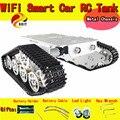 Oficial DOIT RC Aleación Aluminu Tanque Chasis wall-e Caterpillar Tractor de Orugas Coche Robot Inteligente Obstáculo Barrowload UNO