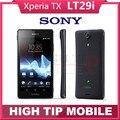 БЕСПЛАТНЫЙ Подарок Оригинальный Разблокирована Sony Xperia TX LT29 LT29i Мобильный Телефон 13MP Dual core Android 4.0 Смартфон гарантия Восстановленное