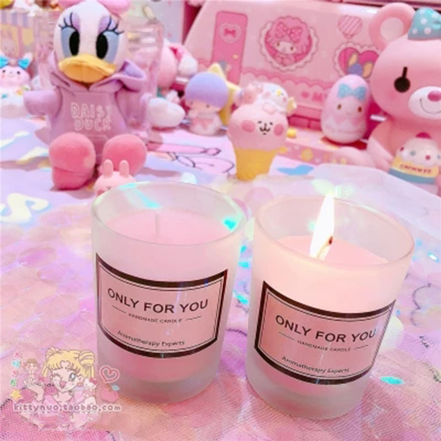 Baby Girl Candles Wedding Decoration Scented Pink Jar Wax Candle Light Tealight Aroma Fete Candele Cera Party Candles 50KO309