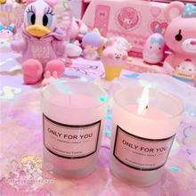 Baby Girl Candles Wedding Decoration Scented Pink Jar Wax Candle Light Tealight Aroma Fete Candele Cera Party 50KO309