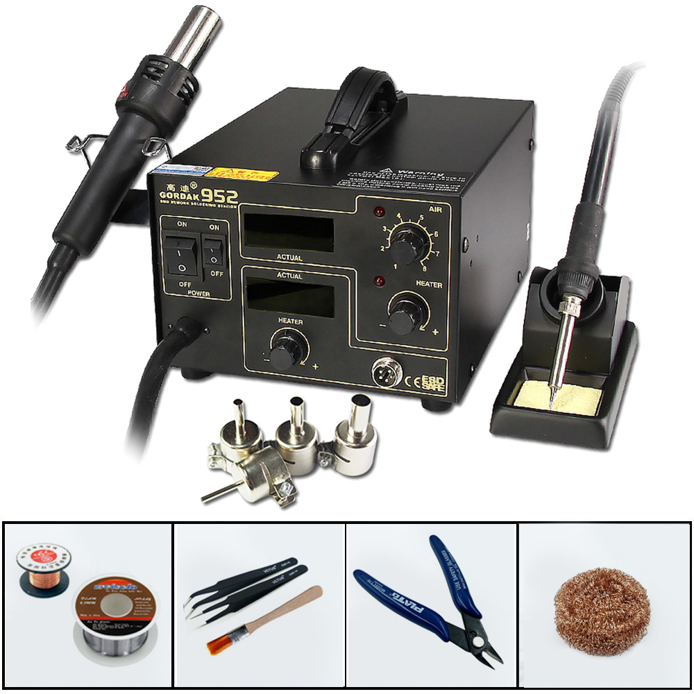 GORDAK 952 2 in 1 Heat Gun Soldering Station Constant Temperature Electric Welding Machine Lead Free
