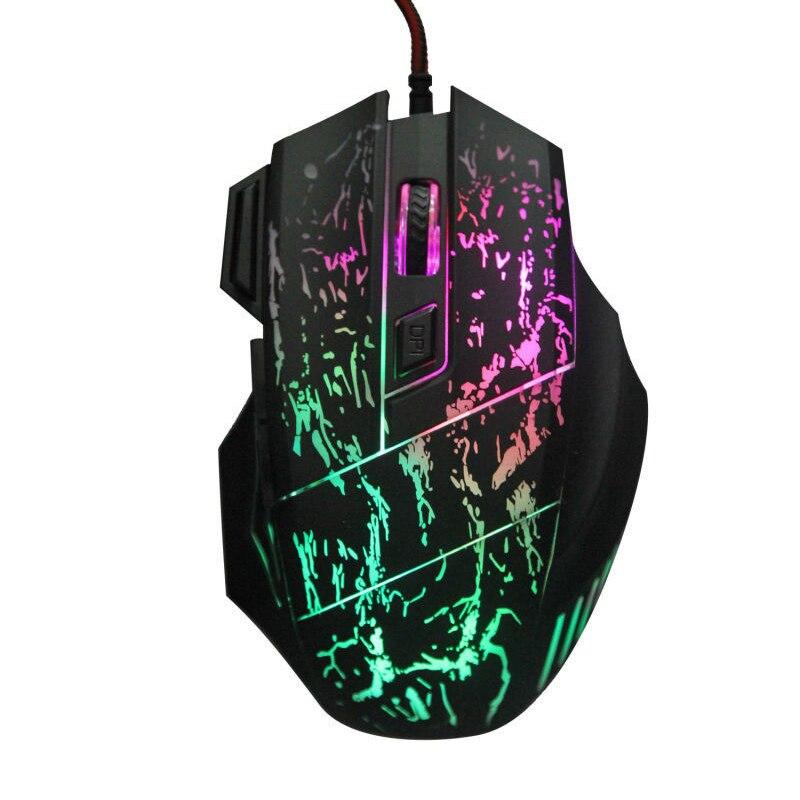 Новый 5500 Точек на дюйм 7 Пуговицы Цвет Изменение светодиодный Проводная Оптическая USB Мышь геймер Мыши компьютерные игры Мышь для Pro Gamer ноутбука компьютер Мышь s